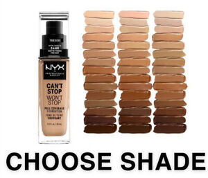 NYX PROFESSIONAL MAKEUP Foundation Can't Stop Won't Stop CHOOSE SHADE