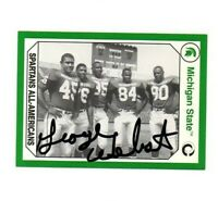 George Webster Michigan State MSU Spartans football signed card DECEASED 1965!