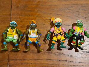 Teenage Mutant Ninja Turtles Sewer Spitting Set of 4 Playmates TMNT Vintage 1992