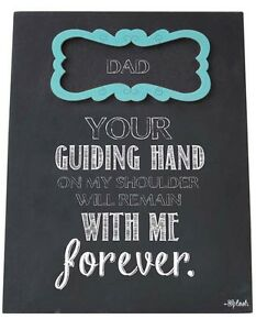 Dad Sign Fathers Day Gift Your Guiding Hand Forever Plaque for Mantlepiece