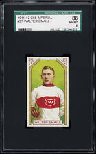 1911 C55 Imperial Tobacco #27 Walter Smaill Rookie Card SGC 88 NM-MT Centered!