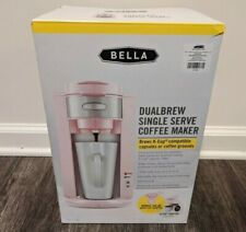 Bella Pink Duelbrew Coffee Maker K-Cups or Ground Coffee Retro Cherry Blossom