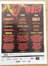 KISS Alice Cooper Hellfest 2010 UK magazine ADVERT / mini Poster 11x8 inches