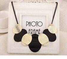 Fashion Chain Pendant Gold Women Crystal Choker Statement Chunky Bib Necklace