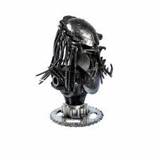 Scrap Metal Art Steel Predator Head Bust Sculpture Ornament