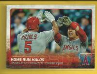 Mike Trout 2015 Topps Update Home Run Halos Card # US213 L A Angels Baseball MLB