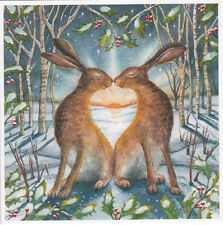 YULE XMAS GREETING CARD Loving the Yule Dawn PAGAN Wiccan HARE WENDY ANDREW