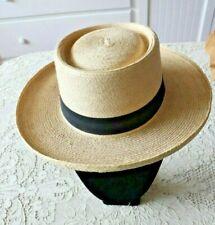 "Vintage Man's Palm Leaf Hat ""57""~ Made in Guatamala"