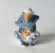 More details for antique ernst bohne & son dresden, novelty porcelain inkwell. blue anchor mark.