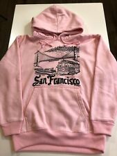 Vintage San Francisco Hoodie Men's XS Pink Pullover Hooded Sweatshirt L/S