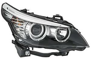 Hella Headlight Halogen For BMW 5 E60 E61 Right Side