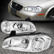 FOR 00-01 NISSAN MAXIMA CHROME HOUSING CLEAR CORNER HEADLIGHT REPLACEMENT LAMPS
