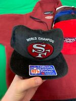 VTG New Era Corduroy San Francisco 49ers NFL World Champions Snapback Hat NWOTS