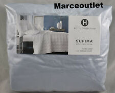 Hotel Collection 680 Thread Count Cotton QUEEN EXTRA DEEP Fitted Sheet Sky Blue