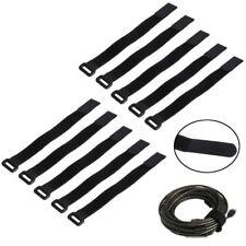 10X 30*2cm Strong RC Battery Tie Down Strap Reusable Antiskid Cable Straps Black