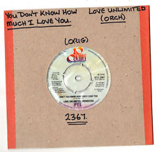 """SOUL.LOVE UNLIMITED ORCH.YOU DON'T KNOW HOW MUCH I LOVE YOU / HEY.UK ORIG 7"""".EX+"""