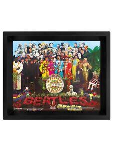 The Beatles Poster Sgt. Pepper 3D Framed Lenticular 20x25cm