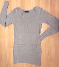 e9c44b3f3e34 VERO MODA - Robe lainage gris manches longues - Taille 38 - TBE !