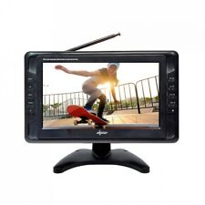 """Axess 10"""" Portable TV Rechargeable with Digital Tuner and SD Card Reader"""