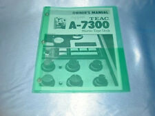 TEAC  A-7300  REEL TO REEL OWNERS MANUAL FREE SHIPPING