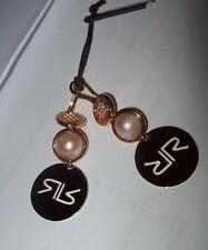 Rebecca  SHIBUYA Glam Rose Gold  Pearl Earrings BPEOPR05 $295 NWT