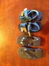 Weebok by Reebok boys suede upper sandals 5 with 5 1/2 flip flops shoes beach