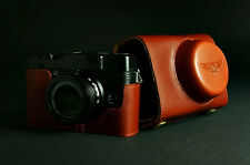 Handmade Vintage Full Real Leather Camera Case Bag Cover for FUJI X10 X20