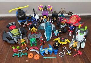 Imaginext DC Super Friends Batman Figures & Cars Lot Bane Hawkman Killer Croc