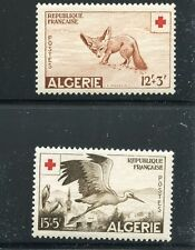 French Algeria B88-B89 MNH Red Cross Animals Fennec and Stork