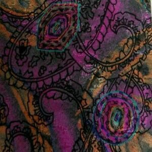 Purple Orange Abstract Paisley Silk PAL ZILERI Tie
