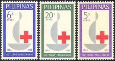 Filipinas 1963 Centenario Cruz Roja/médico/salud/bienestar/Vela 3v Set n29004