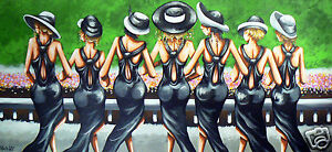Print Poster Painting Art Horse Race Melbourne Cup  Andy Baker Racing Australia