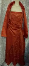 Gino Cerutti Orange 2-Piece LTD EDITION Size L Evening Dress+Stole BNWT RRP £350