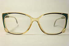 vintage ZEISS 3217 8200 55 18 140 GIALLO VERDE OVALE Montatura occhiali occhiali