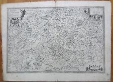 Ortelius Original Engraved Map France Lorraine Lotharingiae Metz  - 1590