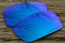 Polarized Sky Ice Blue Mirrored Sunglass Lenses for Oakley Oil Drum - Warm Tint