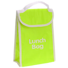 Thermal Cooler Lunch Bag Insulated Kids Office Hot Cold Food Portable School Green