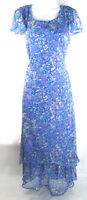Liz Claiborne Womens Dress Axcess Multi Color Cap Sleeve Round Neck Floral Sz 6