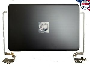 New HP 17-X 17-Y 17X 17Y LCD Back Cover 856591-001 856585-001 + Hinges Black
