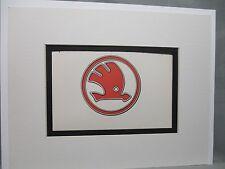 Skoda Czechoslovakia  Car Logo Emblem Decal by Artist Color Illustration exhibit