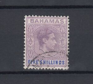 Bahamas KGVI 1942 5/- Reddish Lilac Blue SG165a Cat £700 Fine Used JK2104