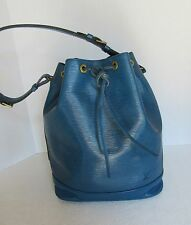 Louis Vuitton Blue Epi Leather Noe Bucket Bag AR0914 Authenticity Verified