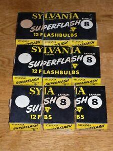9 4-packs (36 bulbs) Sylvania Wabash Super Flash Bantam 8 flash bulbs