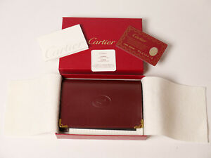 NEW Genuine CARTIER Leather Notepad, Jotter Case and document holder