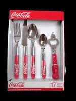 Coca-Cola  17-piece flatware set 4 place settings plus bottle opener New