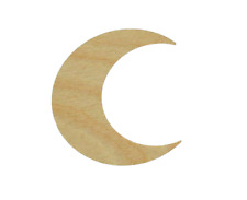 Moon Shape Unfinished Wood Cutouts DIY Crafts Any Sizes Cut Out Made In USA
