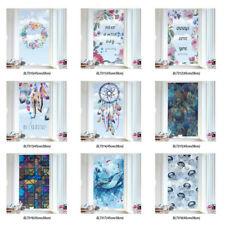 Static Cling 3D Frosted Stained Window Film Flower Glass Sticker Privacy Window
