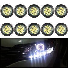 10Pcs White 15W Car Eagle Eye LED Lights Daytime Running DRL Backup Lamps DC 12V