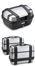 GIVI TREKKER MOTORCYCLE PANNIERS 3 X CASES (2 x 33L & 1 x 52L) TREKKER ALU CASES