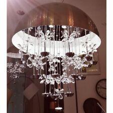 39W LED Kristall Hängeleuchte mit Glas Kristallbehang Lüster Eßzimmerlampe Lampe